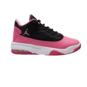 Pink and black Jordan's